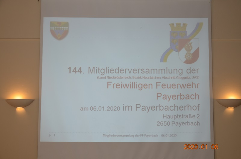 You are browsing images from the article: 144. Mitgliederversammlung der FF Payerbach