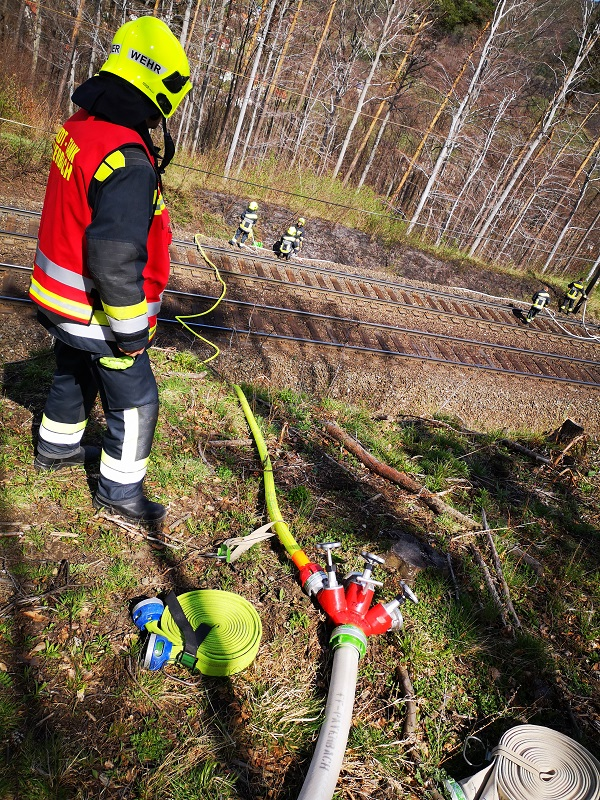 You are browsing images from the article: Brandeinsatz: Weinwegsiedlung Südbahn, Bahndammbrand